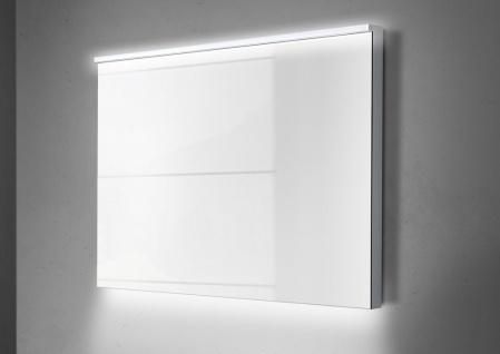 Wachtisch Set Monza 120 cm, weiß hochglanz mit Led Lichtspiegel - Vorschau 4
