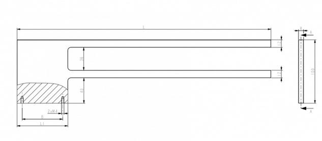 Doppel Handtuchhalter Bad Chrom Design Handtuchstange - Vorschau 5
