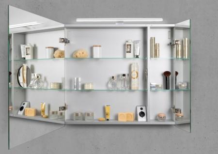 Spiegelschrank 80 cm LED Beleuchtung doppelseitig verspiegelt - Vorschau 2