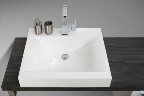 Design Badmöbel Set Waschtischkonsole Waschtischplatte nach Maß in Pinie Anthrazit - Vorschau 2