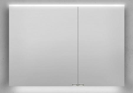 Spiegelschrank 100 cm integrierte LED Beleuchtung doppelt verspiegelt