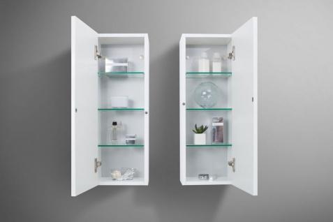 Badezimmermöbel Set mit Design Waschbecken, Lichtspiegel und Hochschrank - Vorschau 5