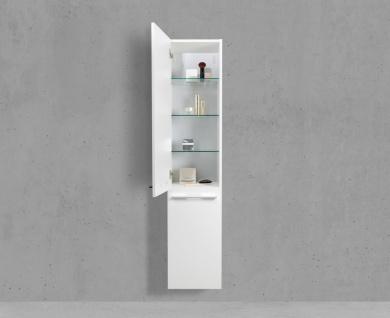 Berühmt Badschrank mit Wäschekippe Hochschrank H/B/T: 160/40/32, 5cm Weiß LH33