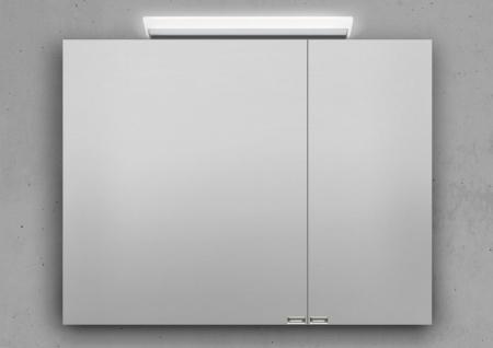 Spiegelschrank 90 cm LED Beleuchtung doppelseitig verspiegelt