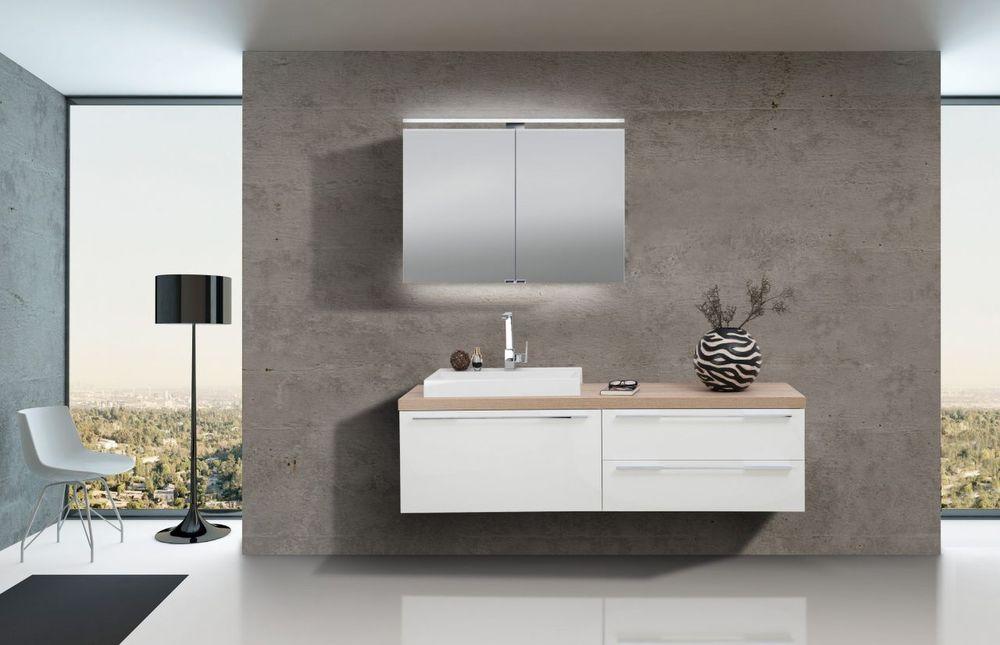 Badezimmer Set Mit Spiegelschrank Und Waschbecken Luxor Kaufen Bei
