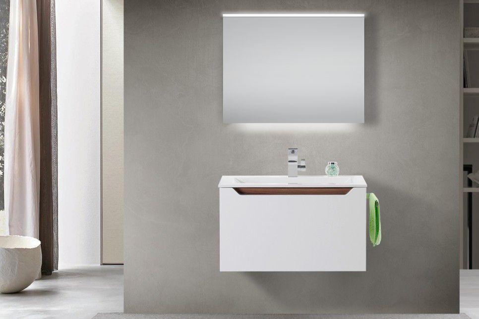 Design Badmobel Set Waschtisch Griffleiste Nussbaum Tiepolo
