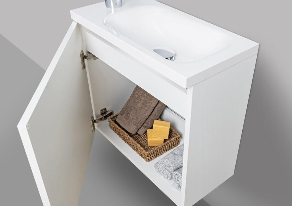 Design Gaste Waschtisch Badmobel Rimini Lichtspiegel Led Grau Hg