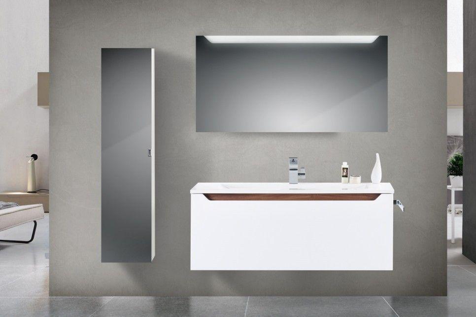 Design Waschtisch 120 Cm Nussbaum Griffleiste Design Badmobel Set
