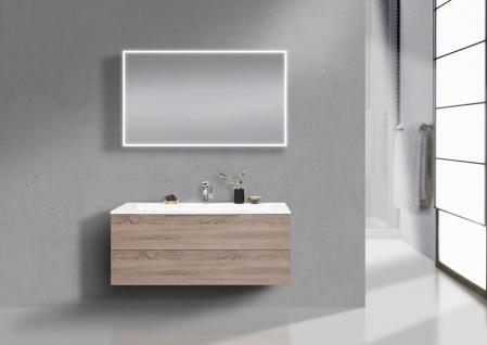 Design Waschtisch 120 cm Evermite, Badmöbel Grifflos mit Push to Open, Intarbad CUBO