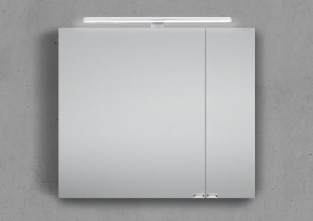 Spiegelschrank 80 cm LED Beleuchtung doppelseitig verspiegelt