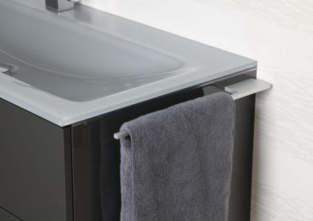 Handtuchhalter Bad aus Aluminium Design Accessoire Badetuchstange - Vorschau 4