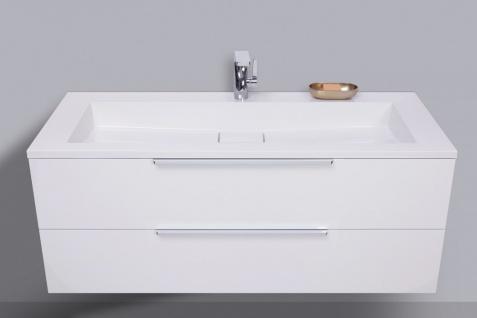 Badmöbel Set CUBO 120 cm Evermite Waschtisch, mit Led Spiegelschrank - Vorschau 3