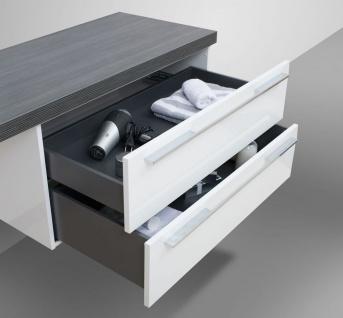 Design Badezimmer Set mit LED Lichtspiegel und Oberschrank - Vorschau 5