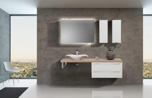 Design Badezimmer Set inkl. Lichtspiegel, Aufsatzwaschtisch und Wachtischplatte nach Maß