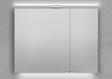 Spiegelschrank Bad 90 cm LED Beleuchtung doppelseitig verspiegelt