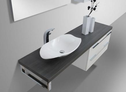 Design Badezimmer Set mit LED Lichtspiegel und Oberschrank - Vorschau 3