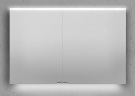 Spiegelschrank 110 cm integrierte LED Beleuchtung doppelt verspiegelt