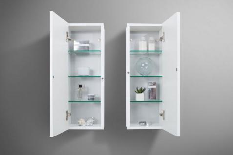 Badmöbel LUXOR grifflos 180 cm , Waschtischplatte nach Maß, weiß hochglanz - Vorschau 5