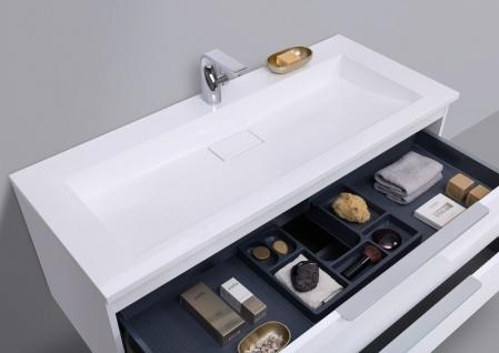 Badmöbel Set CUBO 120 cm Evermite Waschtisch, mit Led Spiegelschrank - Vorschau 4