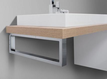 Badmöbel Set grifflos, Waschtischplatte nach Maß bestellbar, mit LED Spiegelschrank - Vorschau 4