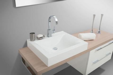 Badezimmermöbel Set mit Design Waschbecken, Lichtspiegel und Hochschrank - Vorschau 2