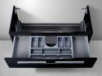 Unterschrank zu Keramag iCon 120 cm Doppelwaschtisch (1 Ablauf) Kosmetikeinsatz