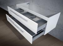 Waschtisch Unterschrank zu Keramag iCon 120 cm Doppelwaschtisch (für 1 Ablauf)