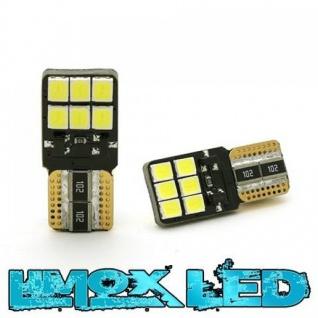 Limox LED Glassockel 12V W5W T10 12x 2835 SMD Weiss Canbus
