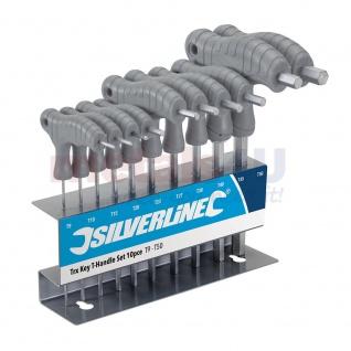 Silverline Torx Schlüssel mit T-Griff 10tlg