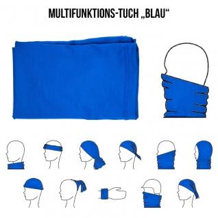 Multifunktionstuch Mund Nasen Schutz Schlauch Maske Blau