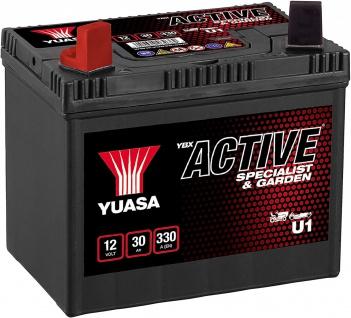 YUASA U1 Starterbatterie AGM 12V 30Ah 270A Rasenmähertraktor Garten