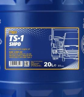 15w-40 Mannol Ts-1 Shpd 20 Liter - Vorschau 2
