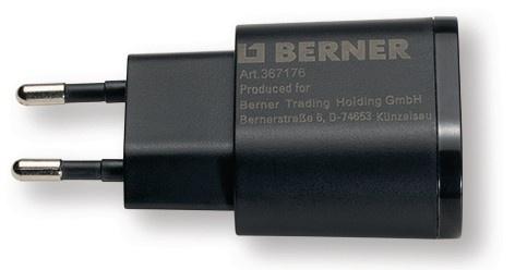 Berner Ladestecker 230V USB 5V 1A für LED Arbeitsleuchten