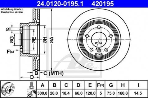 Bremsscheiben Set ATE 24.0120-0195.1