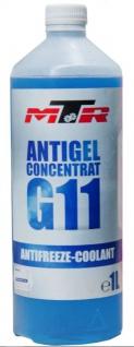 MTR Kühlerfrostschutz Antifreeze Coolant G11 Blau Konzentrat 1 Liter