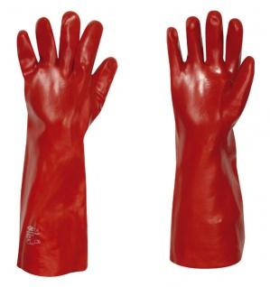 Stronghand Vinyl Handschuh Columbia Rot 45 cm