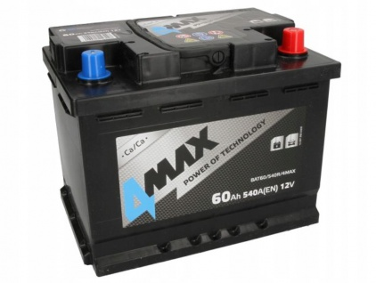 Starterbatterie 4MAX Autobatterie 12V 60Ah 540A