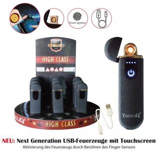TobaliQ USB Feuerzeug Magic R-On Black