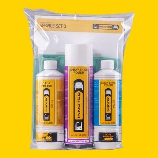 Innotec Service Set 3 Politurenset Easy Spray Shine Quick Shine Polish 4tlg