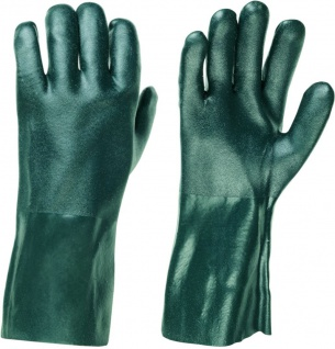 Stronghand Vinyl Handschuh Houston Grün 35 cm