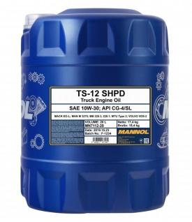 Mannol 10W-30 TS-12 SHPD Mötoröl 20 Liter