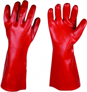 Stronghand Vinyl Handschuh Dawson Rot 40 cm