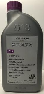 Original VW G13 Kühlerfrostschutz G013 A8J M1 Grün 1, 5 Liter