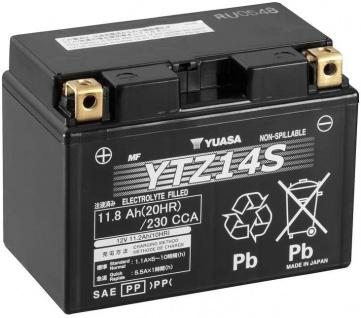 YUASA YTZ14S Starterbatterie AGM 12V 11, 2Ah 230A Motorradbatterie