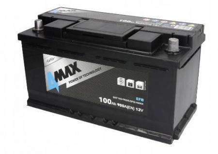 Starterbatterie 4MAX Start-Stop EFB Autobatterie 12V 100Ah 900A