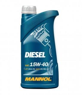 15W-40 Mannol Diesel Motoröl mineralisch 1 Liter