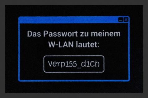 Fussmatte WLAN Passwort 40x60 cm rutschfest