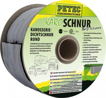 Petec Karosserie Dichtschnur Rund Schwarz KaroSchnur Butyl schwarz