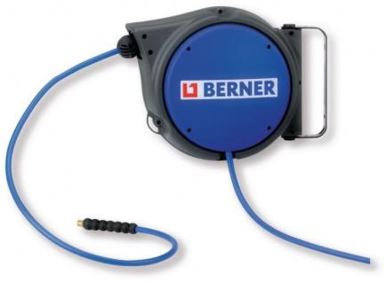 Berner Druckluft Schlauchaufroller 10 Meter 8 mm 15 bar
