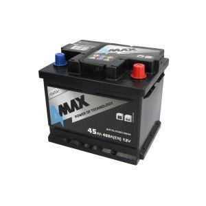 Starterbatterie 4MAX Autobatterie 12V 45Ah 450A